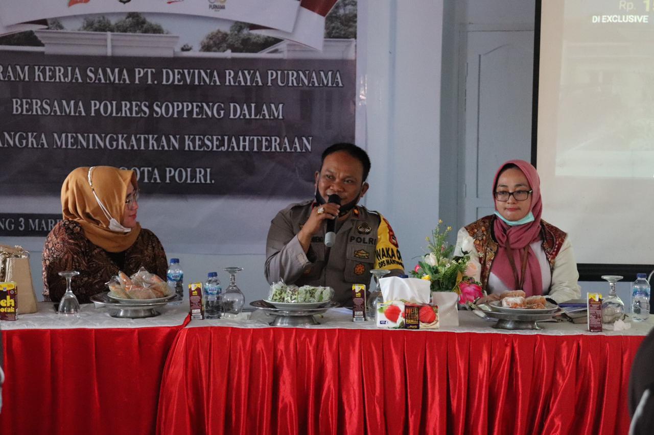 Kerjasama PT Devina Raya Purnama Bersama Polres Soppeng