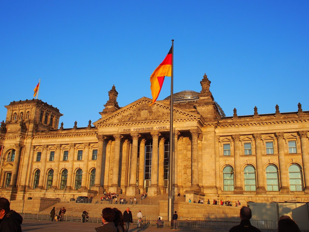 Reichstag Berlin at sunset
