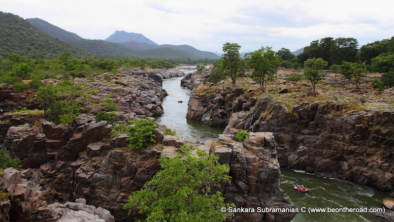 The fast downstream Cauvery river