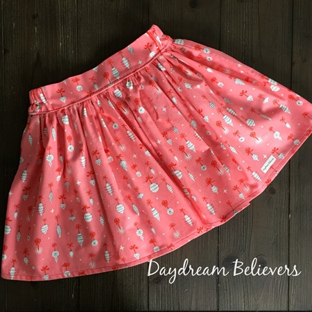 Christmas ETTA Skirt in Retro Ornaments by Daydream Believers