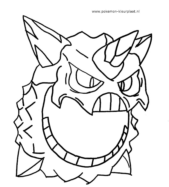 Mega Glalie Primalgroudon Pokemon Coloringpage Omegarubyalphasapphire