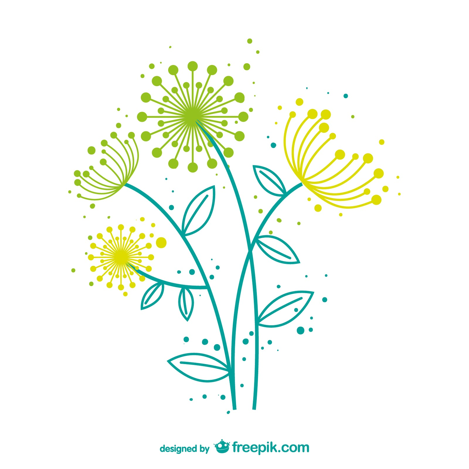 Artistic Dandelion Vector Free Download Vector CDR, AI, EPS and PNG Formats