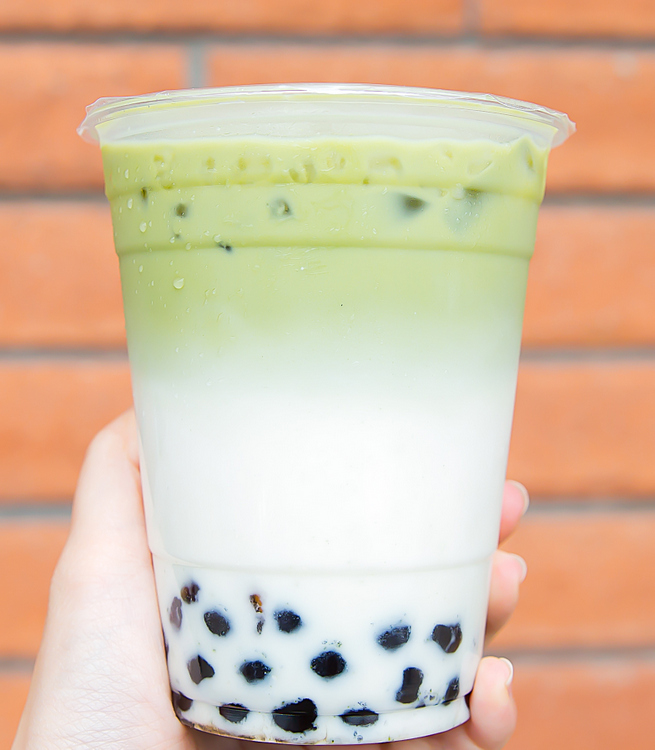 photo of Matcha Coconut Milk Tea with boba