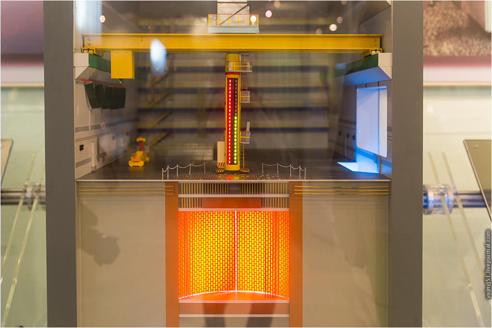 Макет реакторного зала Курской АЭС