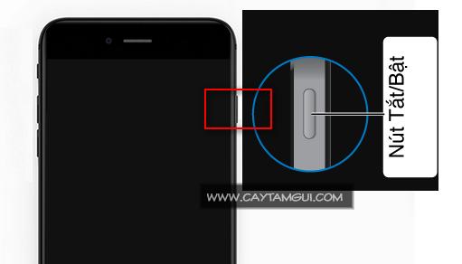 Nút nguồn bật-tắt iPhone