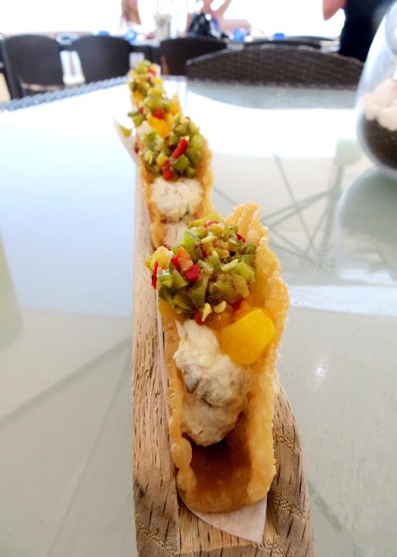 Smoked Swordfish Tacos - 180blu Ritz Carlton Laguna Niguel