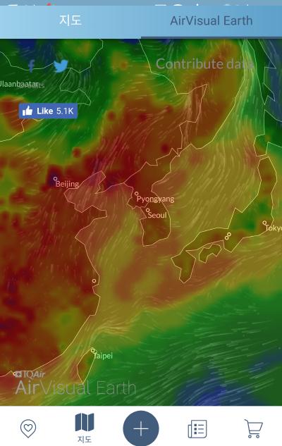 공기의 흐름 위성영상