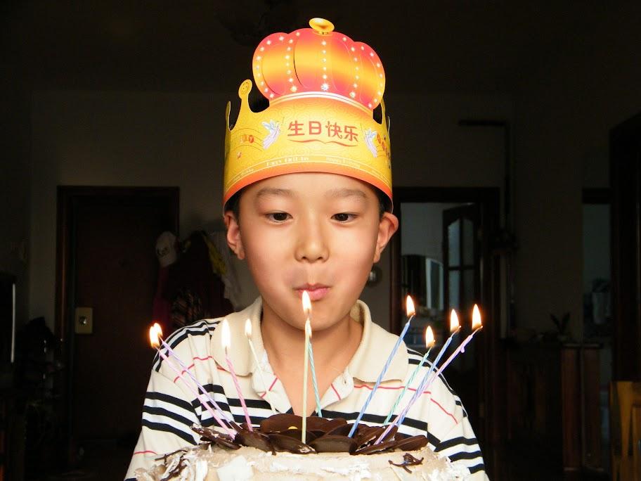 woz birthday with cake