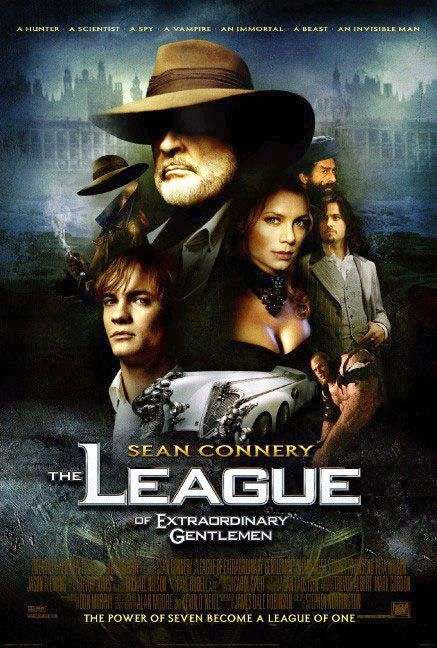 Poster Of The League of Extraordinary Gentlemen (2003) Full Movie Hindi Dubbed Free Download Watch Online At Alldownloads4u.Com