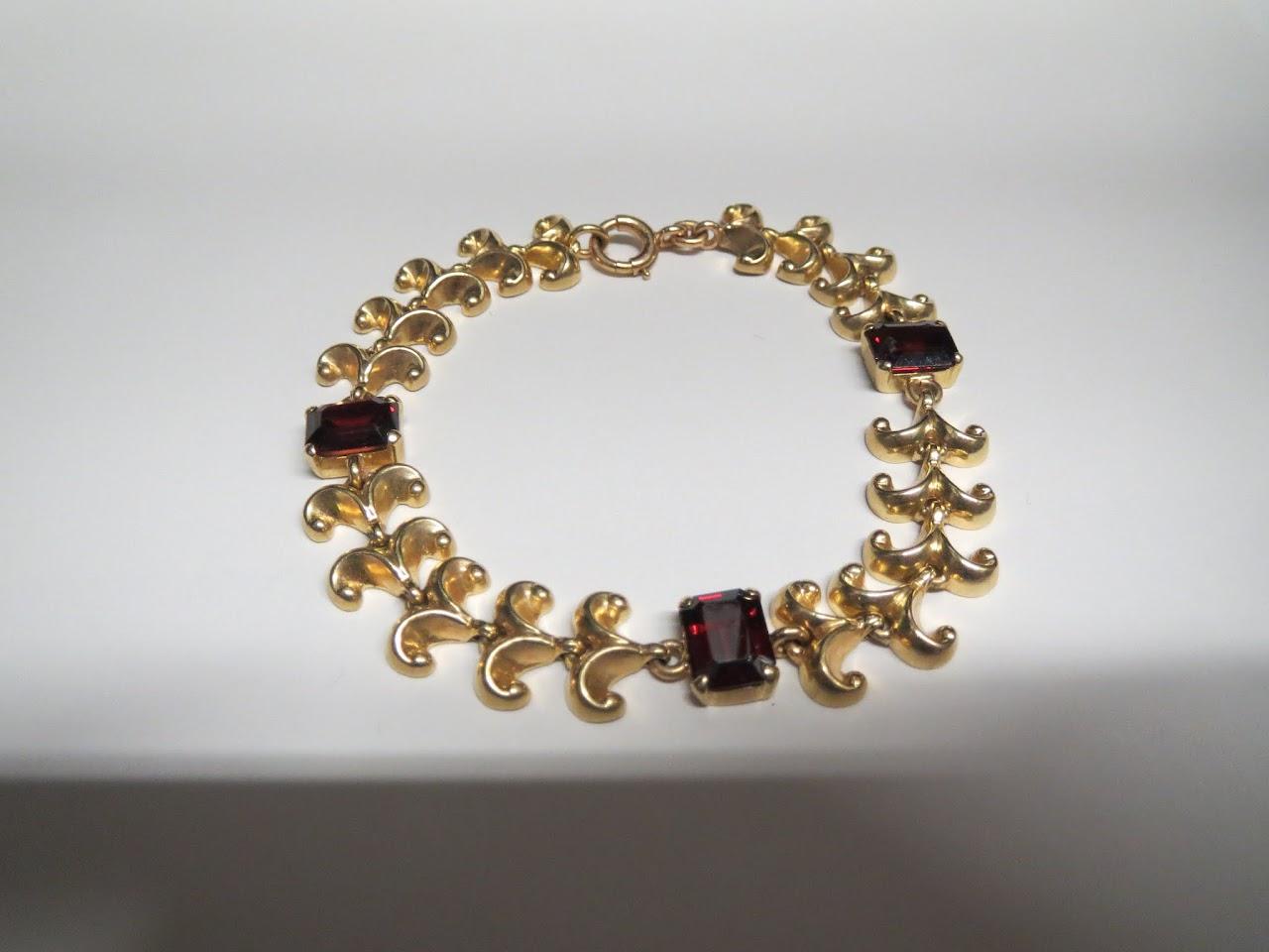 Tiffany & Co. 14kt and Glass Bracelet