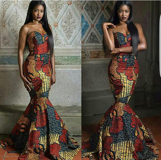 Latest African Short Maxi Dresses For Woman 3