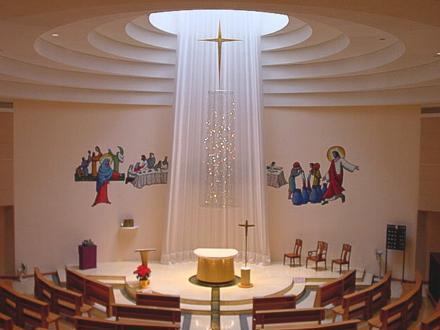 Church interior design our lady of mount carmel church for Church interior designs pictures