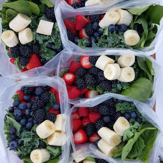 1 Week of Green Smoothie Prep Packs.