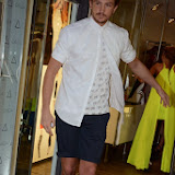 WWW.ENTSIMAGES.COM -  Tom Kilbey  leaving AQ/AQ - VIP launch - fashion brand celebrates its rebrand from Aqua by Aqua to AQ/AQ at 12 Fouberts Place, Carnaby Street, London July 23rd 2013                                                       Photo Mobis Photos/OIC 0203 174 1069