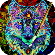 Coloring Book For Adults Free 【ColorWolf】 ????| ???????? icon