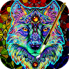 Coloring Book For Adults Free - ColorWolf APK Icon