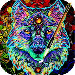 Coloring Book For Adults Free 【ColorWolf】 ?| ?? Icon