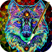 Coloring Book For Adults Free 【ColorWolf】 🐺| 🇺🇸 APK Icon