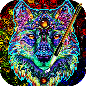 Coloring Book For Adults Free Colorwolf Android Coloring Book App