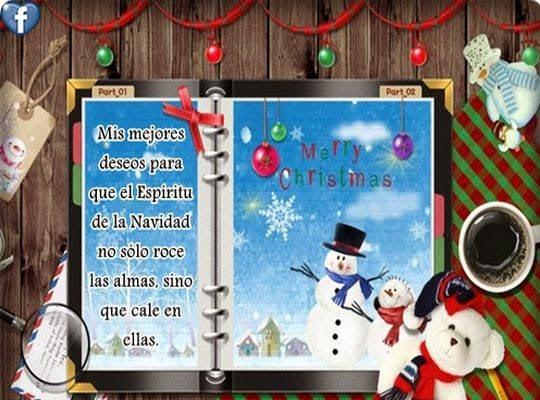Deseos navideños para tarjetas de postales