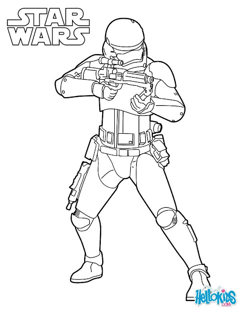 Stormtrooper From Episode  Coloring Page