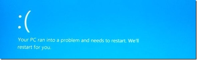 The modern version of the Blue Screen of Death