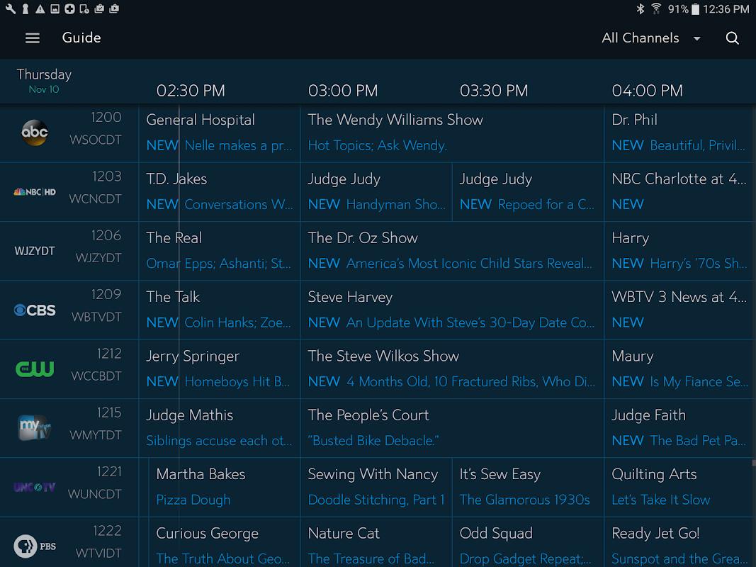 Spectrum TV screenshots