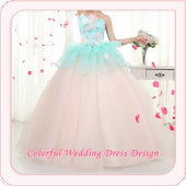 Colorful Wedding Dress Design