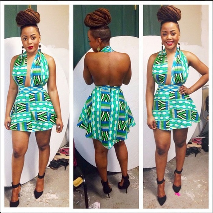 ankara short gown designs (4)