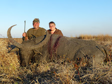 Mr Ganzenmueller, Germany with a nice buffalo cow taken at Carmor Plains