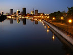 Downtown Rochester from the Ford Street bridge