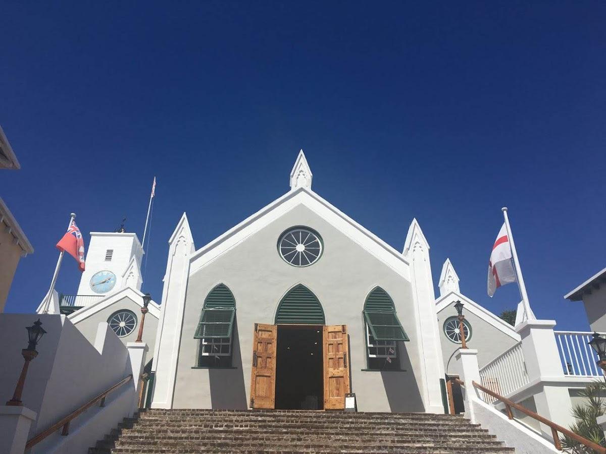 挙式を挙げたバミューダ・セントピーターズ教会