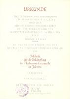 137 Medaille für die Bekämpfung der Hochwasserkatastrophe im Juli 1954 www.ddrmedailles.nl