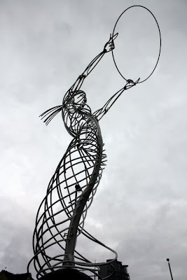 Sculpture in Belfast in Northern Ireland