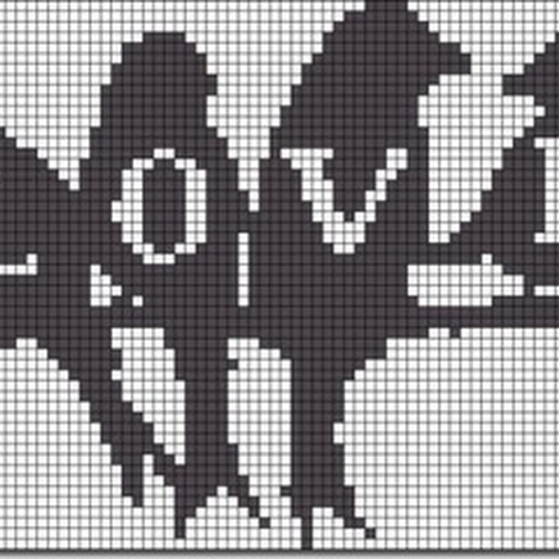 siluetas de aves punto de cruz monocromo