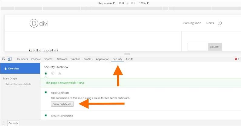 Chrome Inspect Security