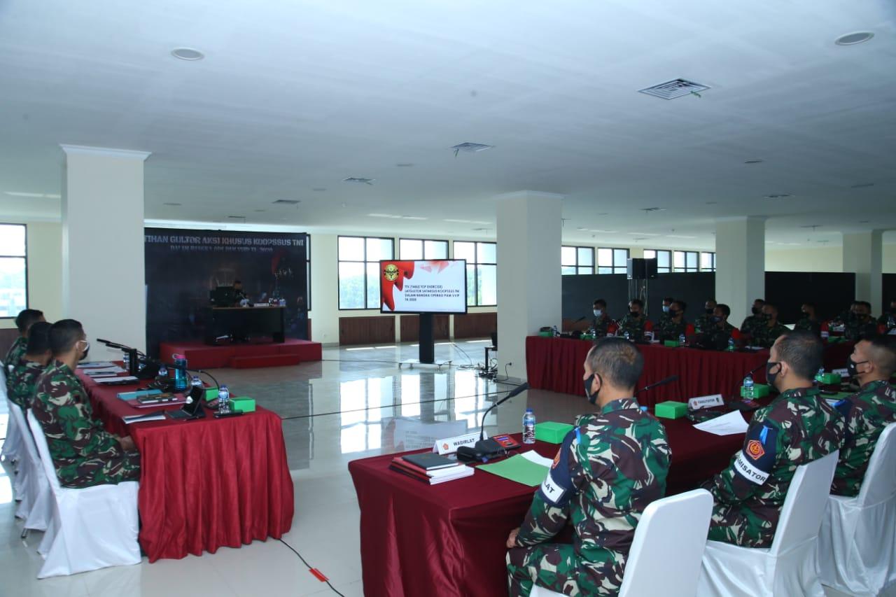 Dankoopssus TNI Buka TTX Satuan Aksi Khusus TNI, Ini Arahannya