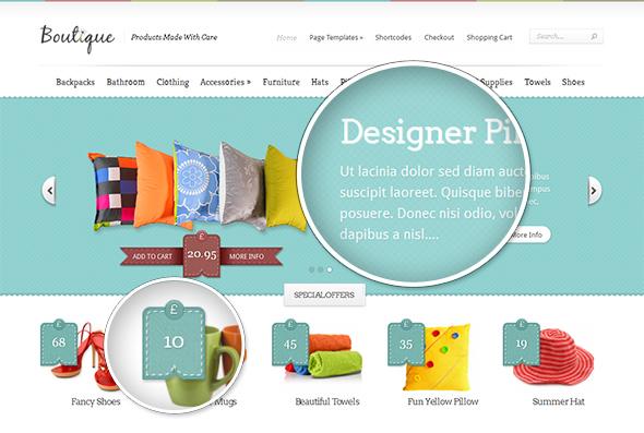Boutique Modern WordPress Theme