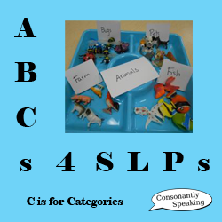 ABCs 4 SLPs Categories