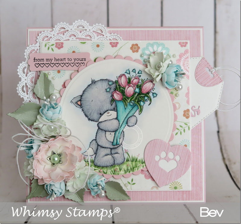 Bev-Rochester-whimsy-kitten-flowers