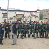 Dramatic Photos: Tibetans Detained After Anti-Mining Protest In Shigatse - standoff2.jpg