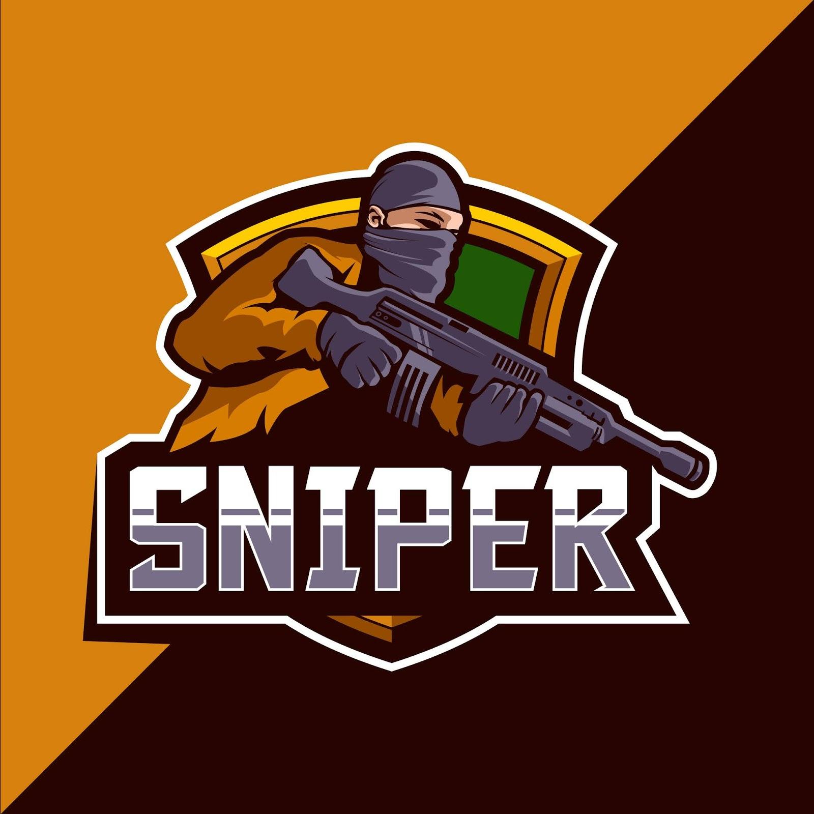 Sniper Esport Mascot Logo Design Free Download Vector CDR, AI, EPS and PNG Formats