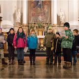 Zpívání koled v klášterním kostele