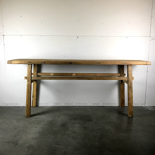 Rustic Hardwood Work Table
