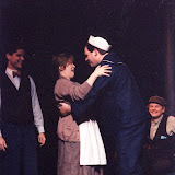 Rocky Bonsal, Donna Newton, Gerry Stryker and Mark Spickerman in LOOK HOMEWARD, ANGEL (R) - March 1994.  Property of The Schenectady Civic Players Theater Archive.