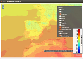 My Weather Indicator para Ubuntu - Mapa