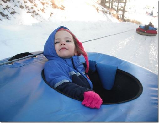 Neenie snow tubing
