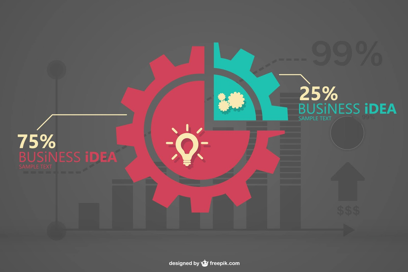 Business Infographic Vector	 Free Download Vector CDR, AI, EPS and PNG Formats