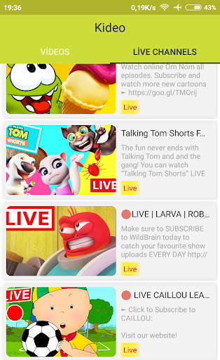 Kideo: Youtube for Kids 2.1 6