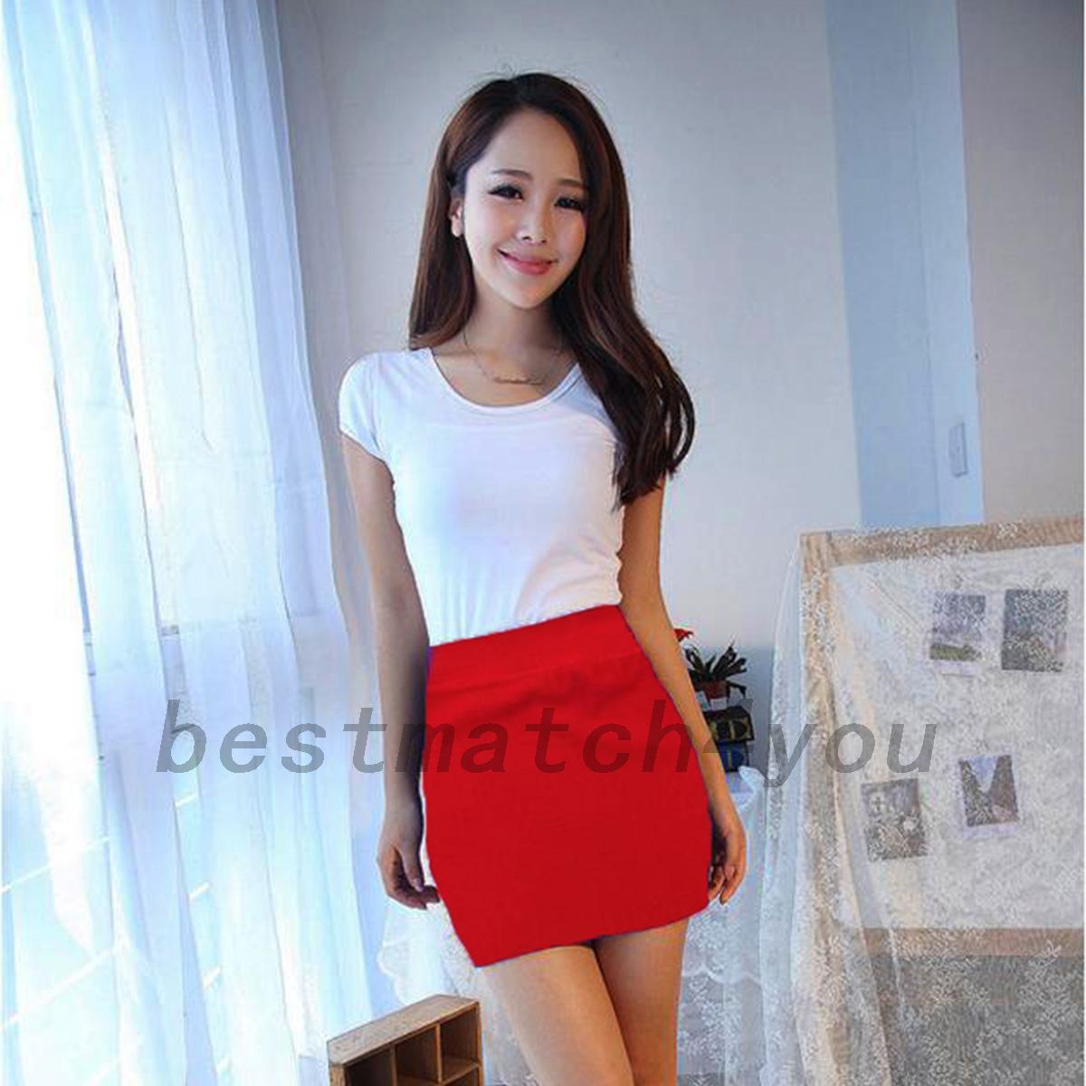 femmes sexy jupe crayon taille haute mini robe moulante extensible jupe bureau. Black Bedroom Furniture Sets. Home Design Ideas